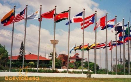 foreign embassies consulates bolivia flags