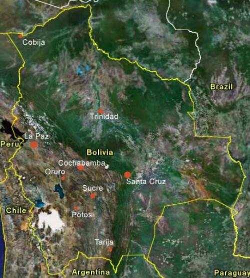 Satellite Image of Bolivian Territory
