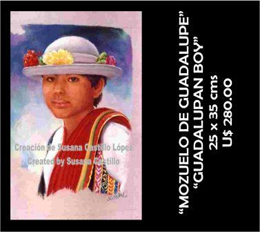 Susana Castillo López Original Pastel Paintings MOZUELO DE GUADALUPE