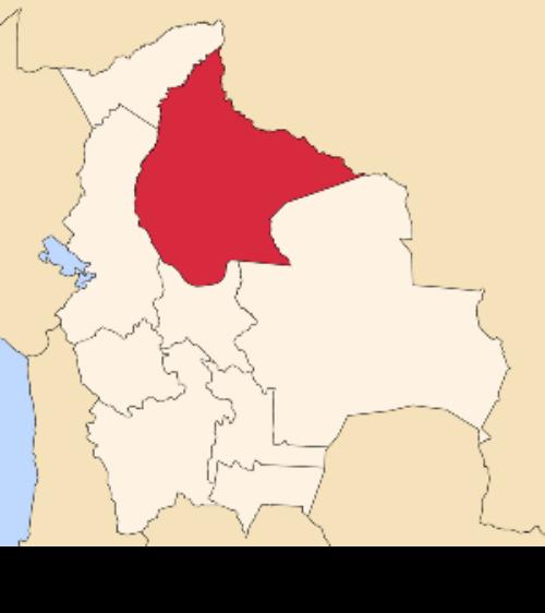 map bolivia beni