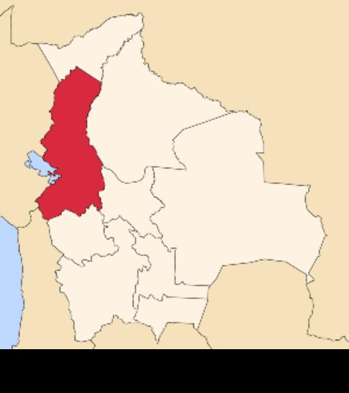 map bolivia la paz