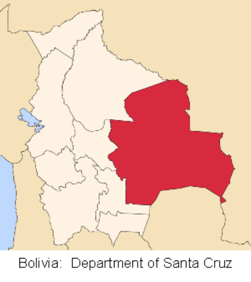 map bolivia santa cruz