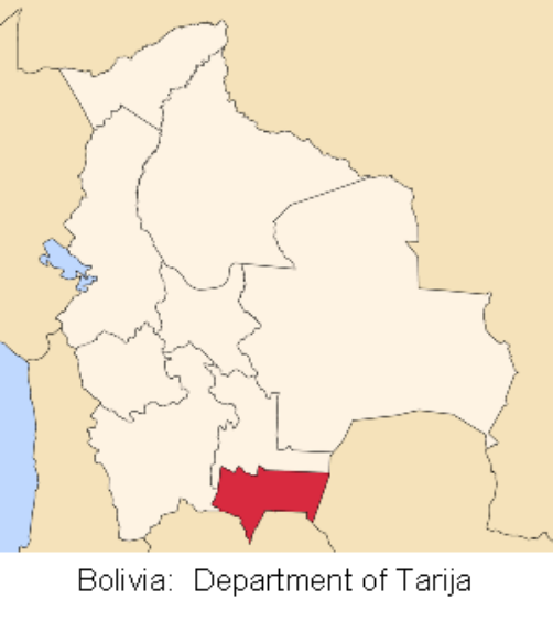map bolivia tarija