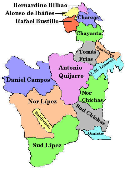 the department (state) of potosi bolivia