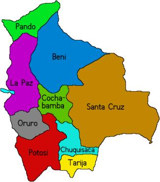 Bolivia Maps. Travel Map of Bolivia. Bolivian Geography ...