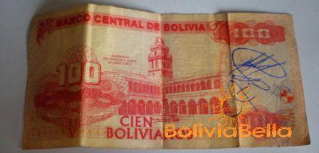 Bolivianos 100 - back side
