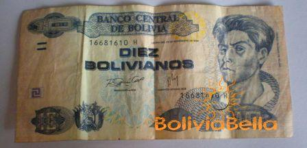Bolivianos 10 - front side