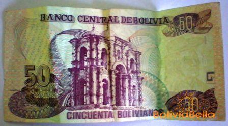 Bolivianos 50 - back side