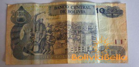 Bolivianos 10 - back side
