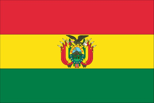 Bolivian National Emblems - Flag - Red Yellow Green
