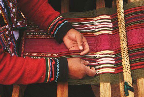 ASUR Museum Sucre Bolivia - Tarabuco Woman Weaving