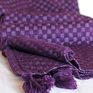 Purple Peruvian alpaca blanket