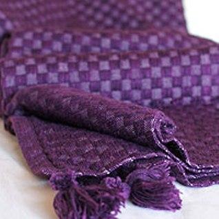 Purple Peruvian alpaca blanket