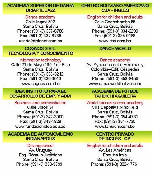 institutes bolivia