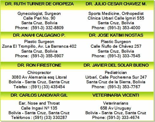 doctors physicians surgeons santa cruz bolivia