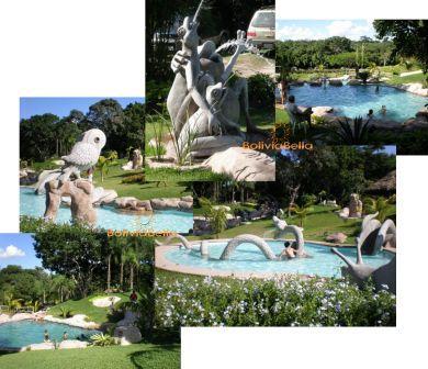 Bolivia Santa Cruz Attractions Restaurants Rinconada Pools