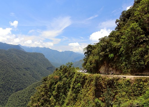 Entering the Yungas Toward Coroico