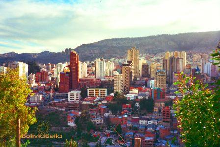 Hotels and Buildings in Downtown La Paz Bolivia
