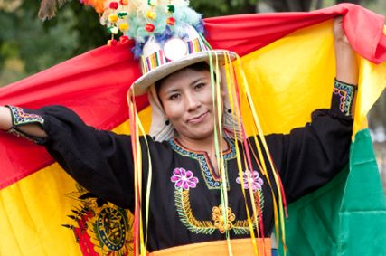 Carnaval de Oruro Bolivia Flag