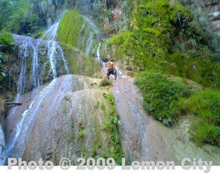 Rappelling en Bolivia