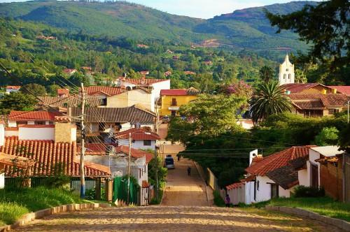 View of the Town of Samaipata Bolivia