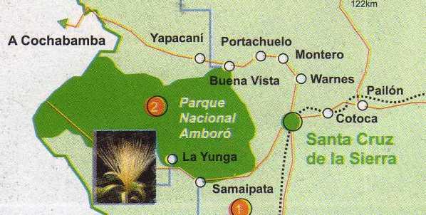 Map of Amboro national park