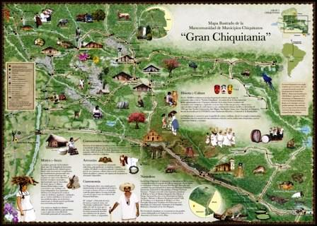 Map of the Mancomunidad de Municipios Chiquitanos