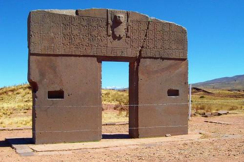 Puerta del Sol (Sun Gate) at Tiwanaku (Tiahuanaco) Bolivia