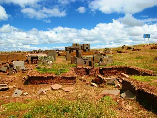Puma Punku Gate of the Puma in Tiwanaku Bolivia
