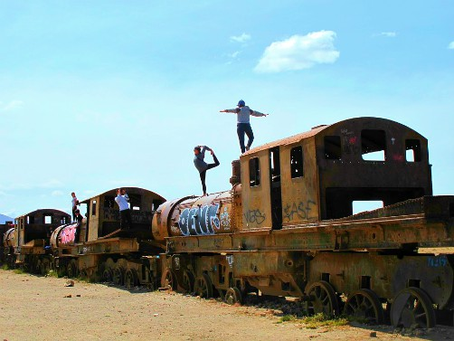 Train Cemetery Salar de Uyuni Bolivia