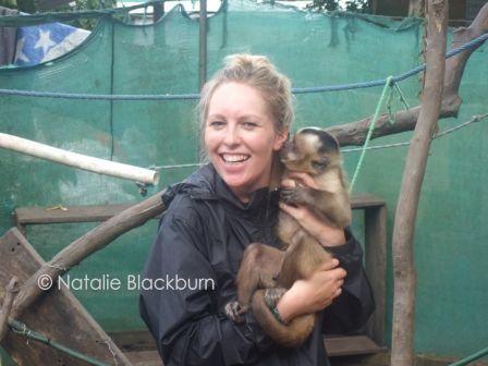 Natalie Blackburn, Volunteer at Inti Wara Yassi near Cochabamba Bolivia