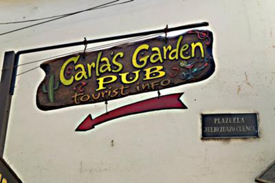 Signpost leading to Carla's