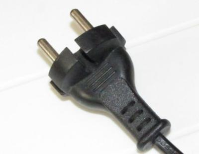 Round pin plug (usually for 220V)