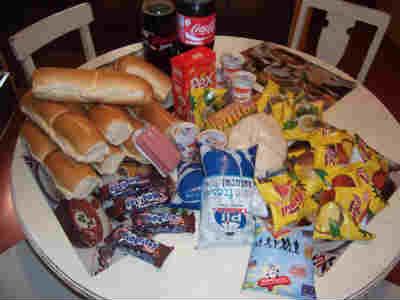 This is what 15 US dollars worth of groceries in Tarija Bolivia looks like.