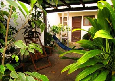 Second patio with hammock