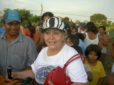 Tery in Trinidad helping flood victims in 2007