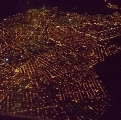La Paz from the airplane