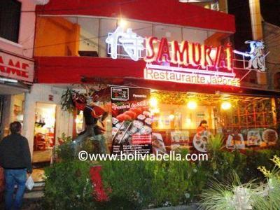 Samurai Japanese Restaurant In La Paz Bolivia