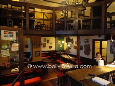 Bibliocafe has two dining levels