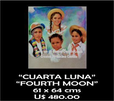 Susana Castillo López Original Pastel Paintings CUARTA LUNA