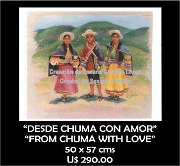 Susana Castillo López Original Pastel Paintings DESDE CHUMA CON AMOR