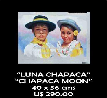 Susana Castillo López Original Pastel Paintings LUNA CHAPACA