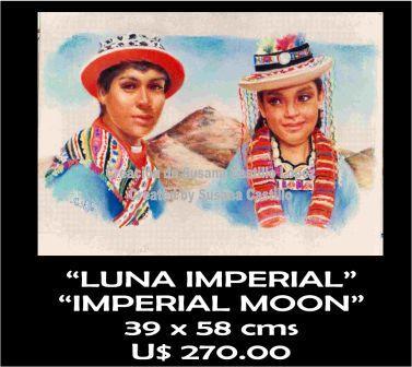 Susana Castillo López Original Pastel Paintings LUNA IMPERIAL