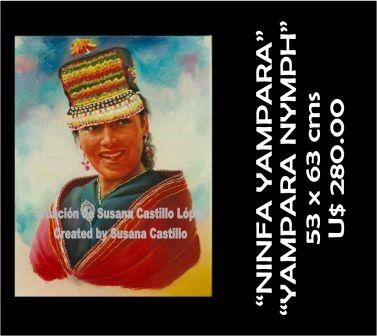 Susana Castillo López Original Pastel Paintings NINFA LUNA YAMPARA