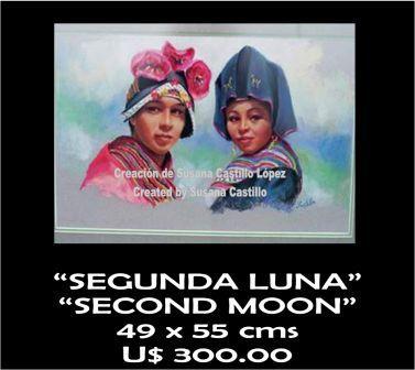 Susana Castillo López Original Pastel Paintings SEGUNDA LUNA