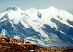 Illimani in the Andes - a view from La  Paz