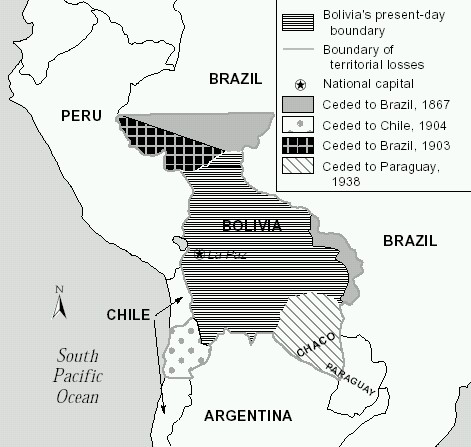 History of Bolivia - Day of the Sea - Territorial Losses