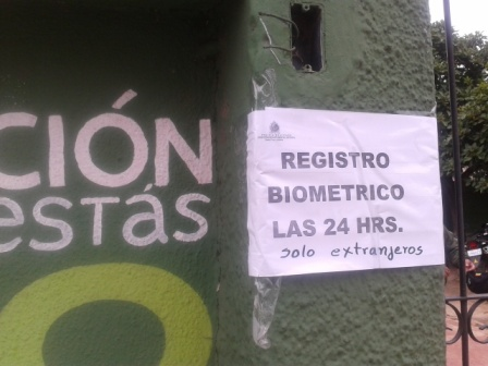 Biometric Registration of All Foreigners Living in Bolivia