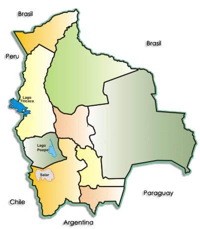 Map of Bolivia