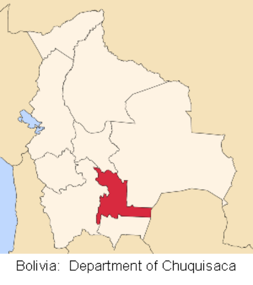 map bolivia chuquisaca